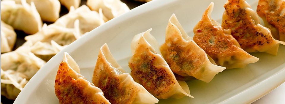 pan-fried pot stickers